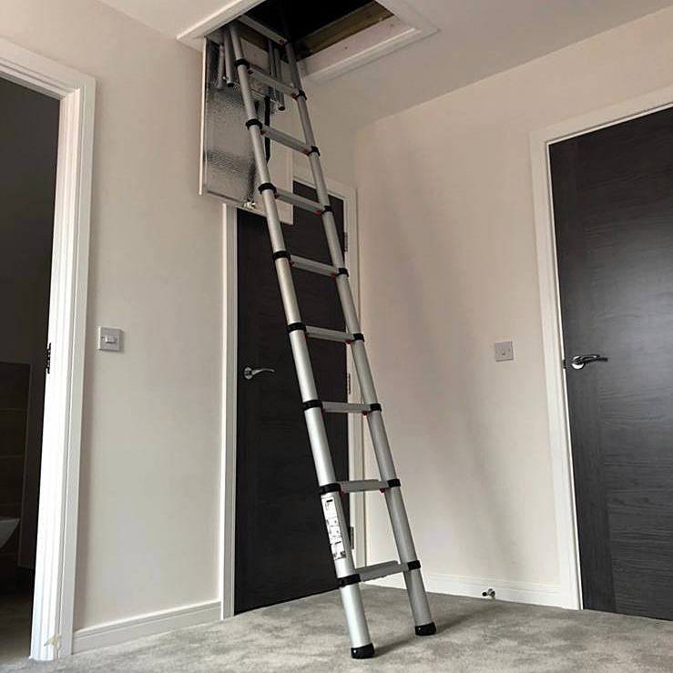 Telescopic Ladder out of a loft