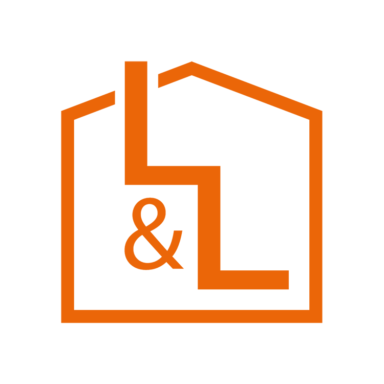 Orange Loft and ladders symbol logo