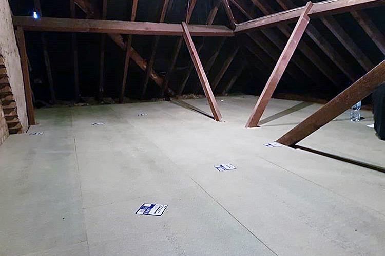 Loft storage with loft chipboard flooring applied
