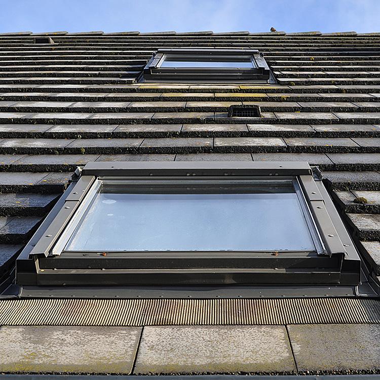 Outside view of loft window closed
