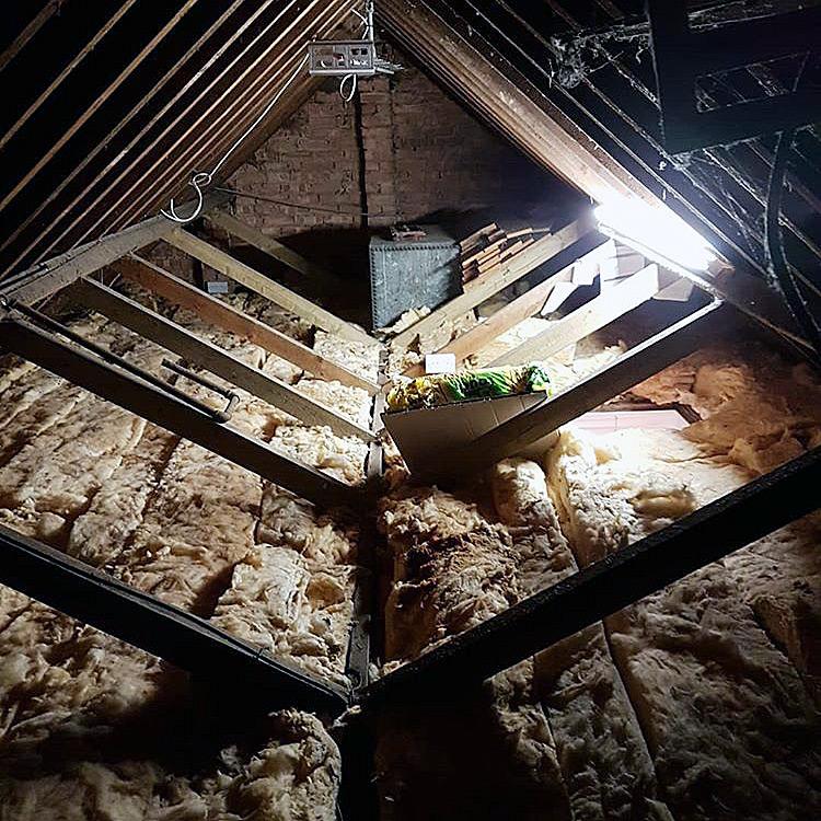 Loft insulation before